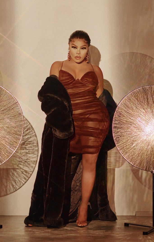 Lil Kim x PrettyLittleThing Faux Fur Coat