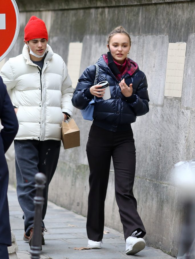 Lily-Rose Depp in Paris on Dec. 5.