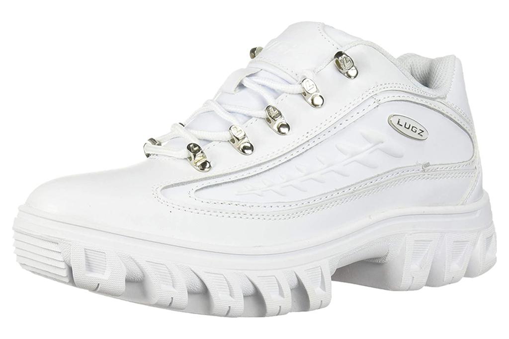 white sneakers, platform, lugz