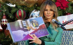 First lady Melania Trump reads a
