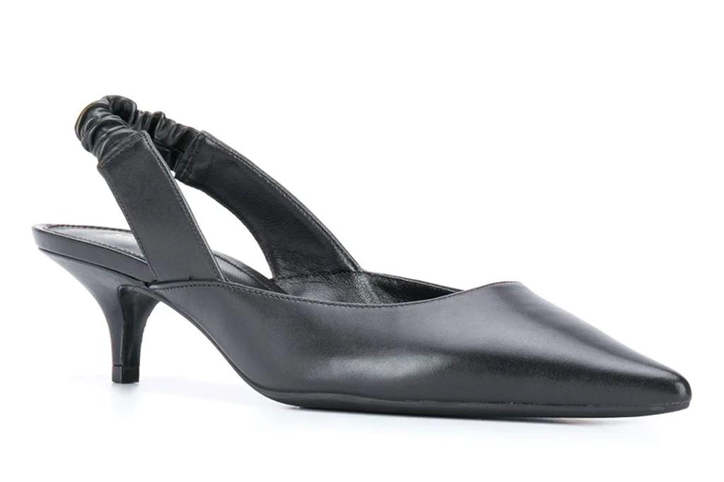 michael kors, slingback, heels, black