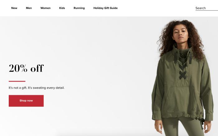 New Balance website redesign