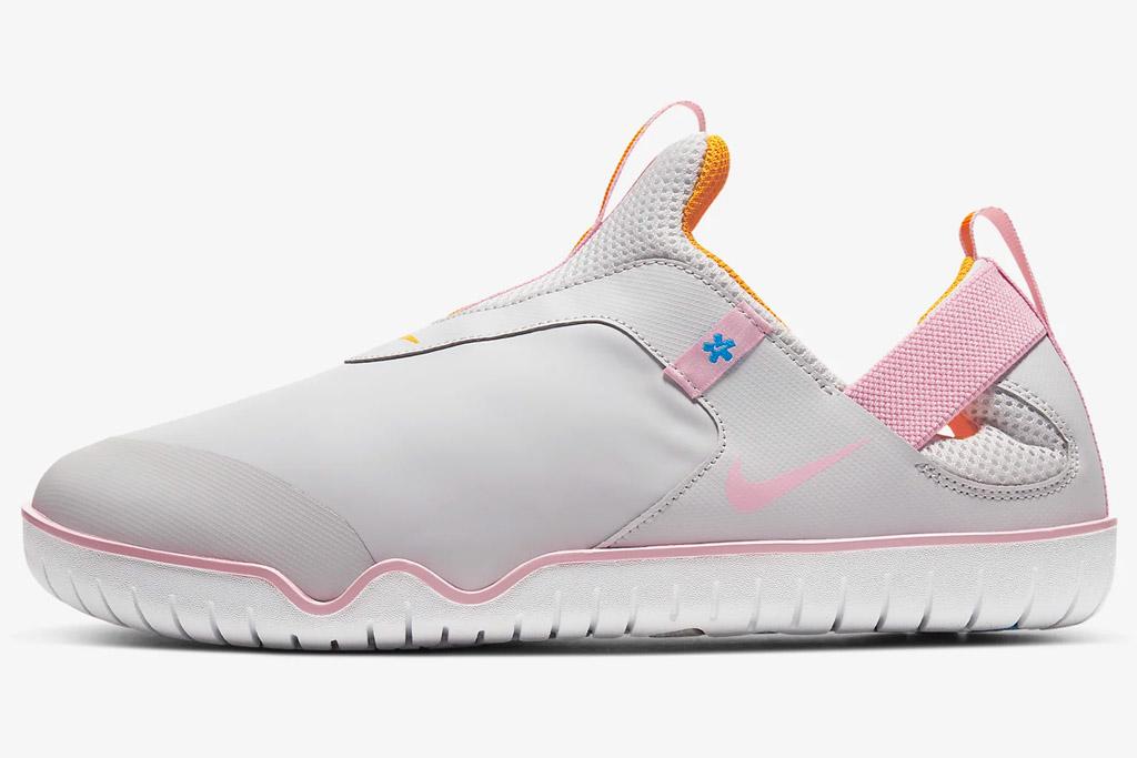 gray sneakers, pink, nike