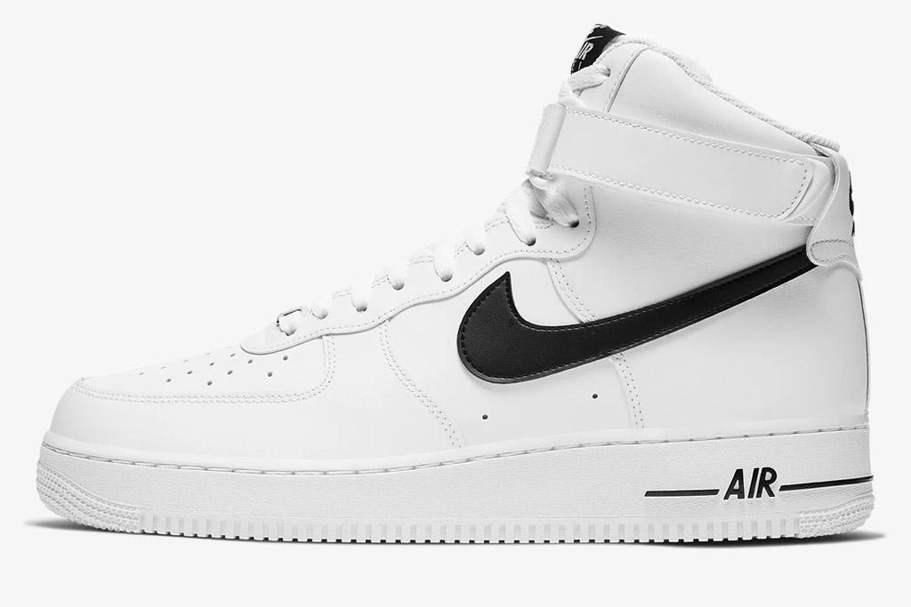 white sneakers, high top, nike