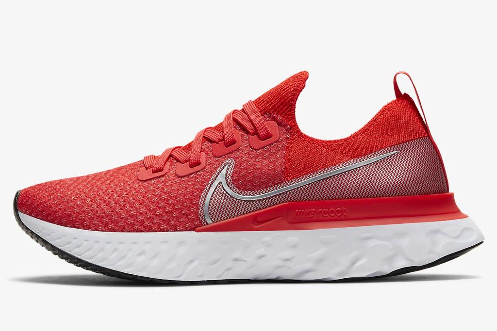 sneakers, running shoes, orange, neon, red, nike