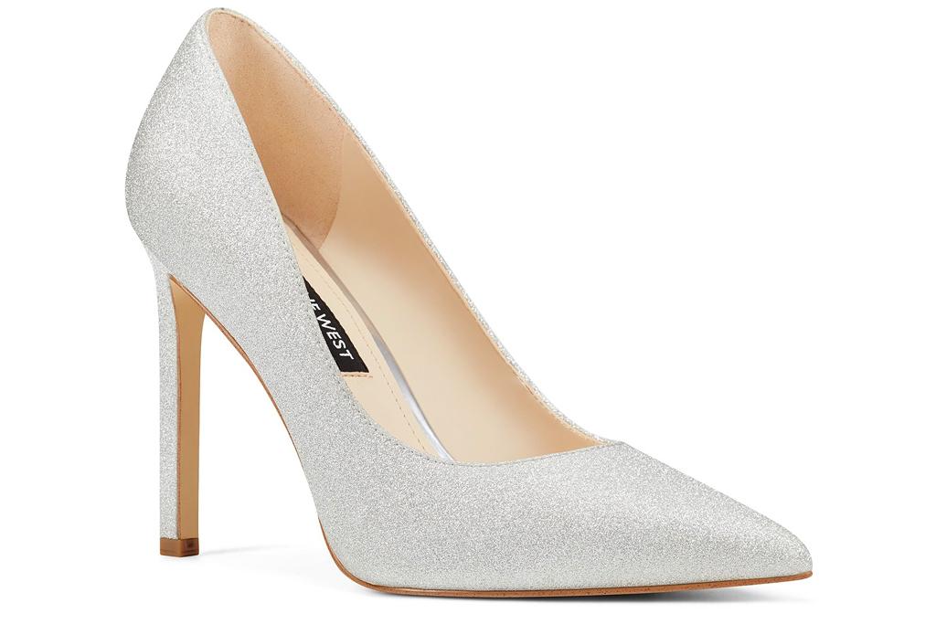 glittery heels, pumps, nine west