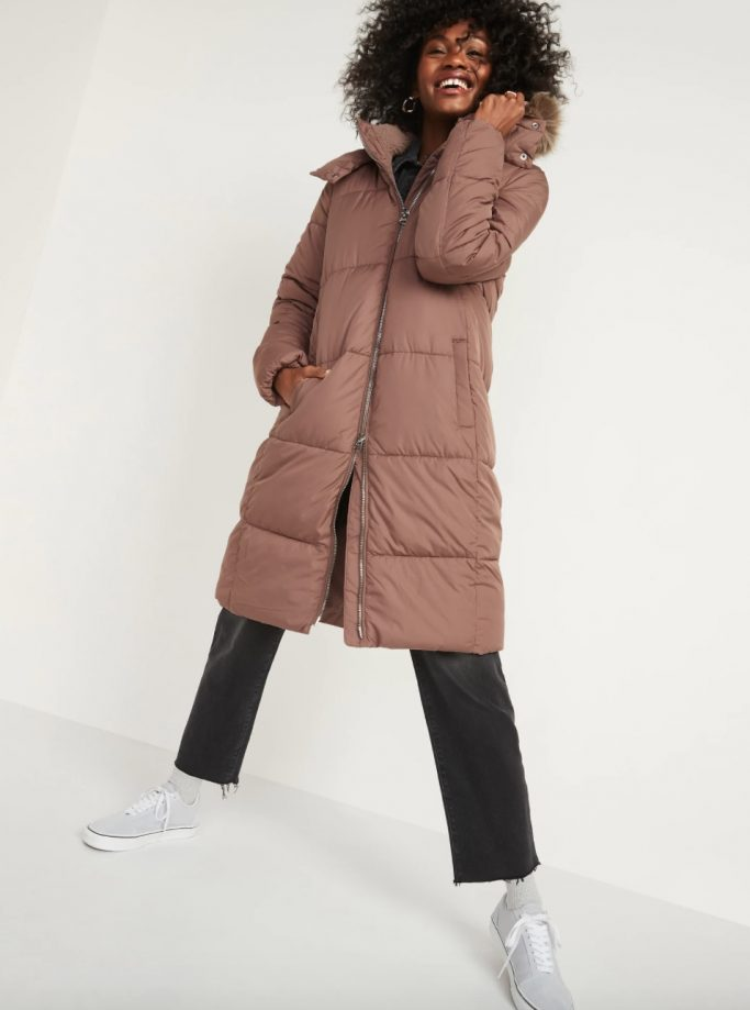 Old Navy Long Hooded Puffer Jacket