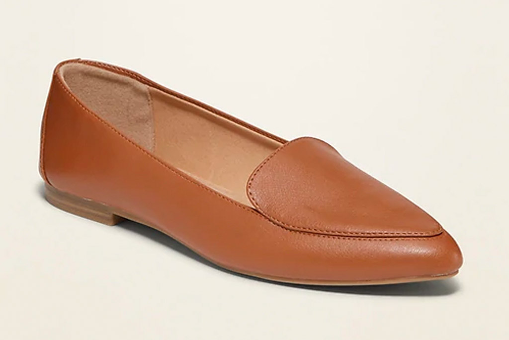 brown loafers, leather, old navy
