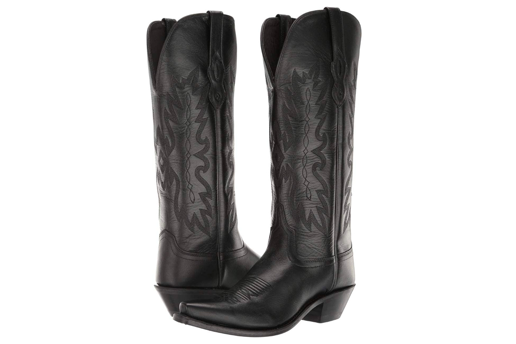 black boots, cowboy boots, old west boots