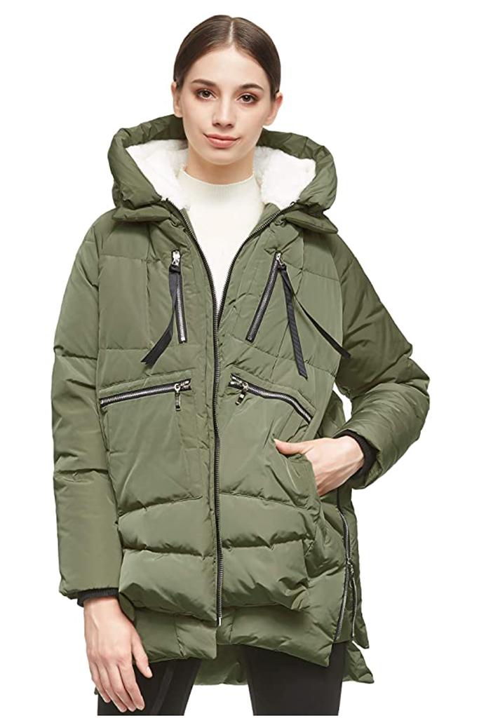 orolay jacket, lucy hale green jacket, amazon jacket