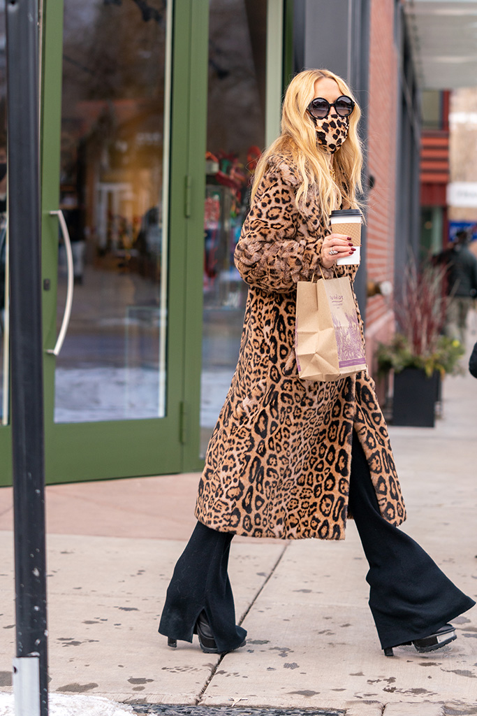 Rachel Zoe steps out in her signature cheetah print coat and mask for a bit of shopping in downtown Aspen Sunday afternoon. The 52 had a rough week before Christmas after her 9 year-old son, Skyler fell off of a ski lift, he was hospitalized, but released.Pictured: Rachel ZoeRef: SPL5204513 271220 NON-EXCLUSIVEPicture by: SplashNews.comSplash News and PicturesUSA: +1 310-525-5808London: +44 (0)20 8126 1009Berlin: +49 175 3764 166photodesk@splashnews.comWorld Rights