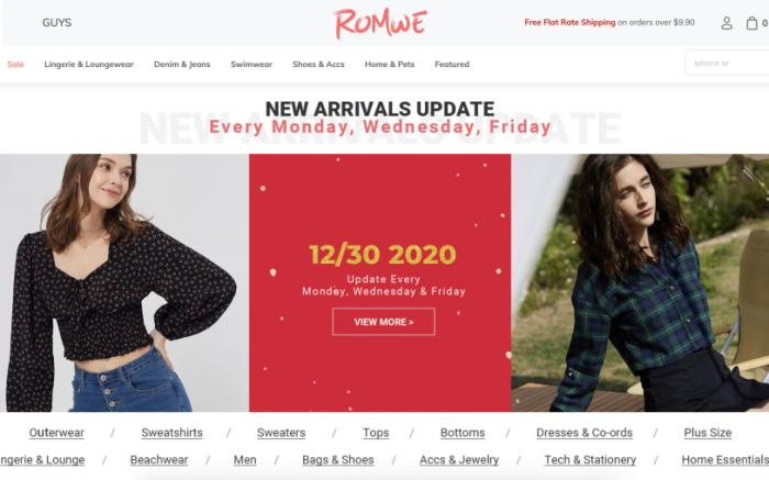 Romwe website