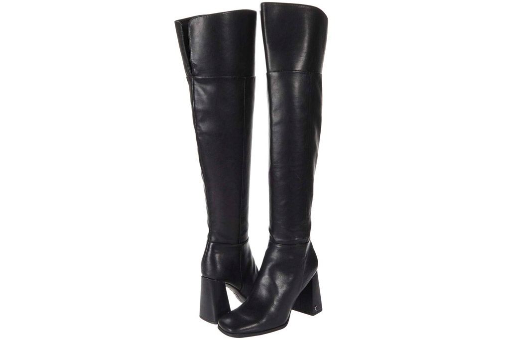 black boots, leather, knee high, over the knee, sam edelman