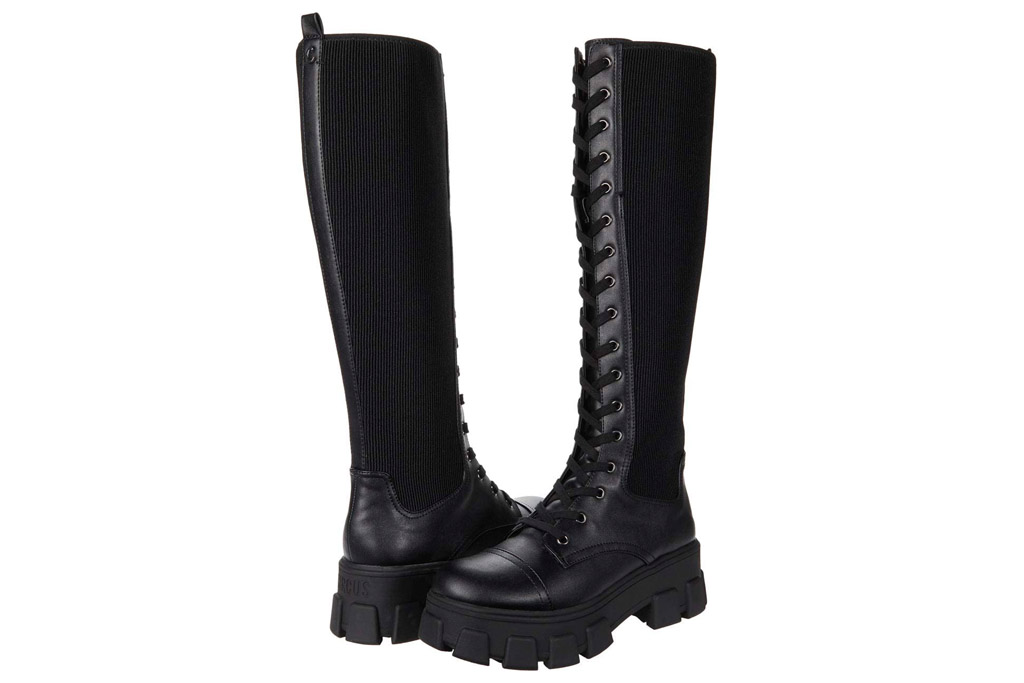 combat boots, knee high, sam edelman