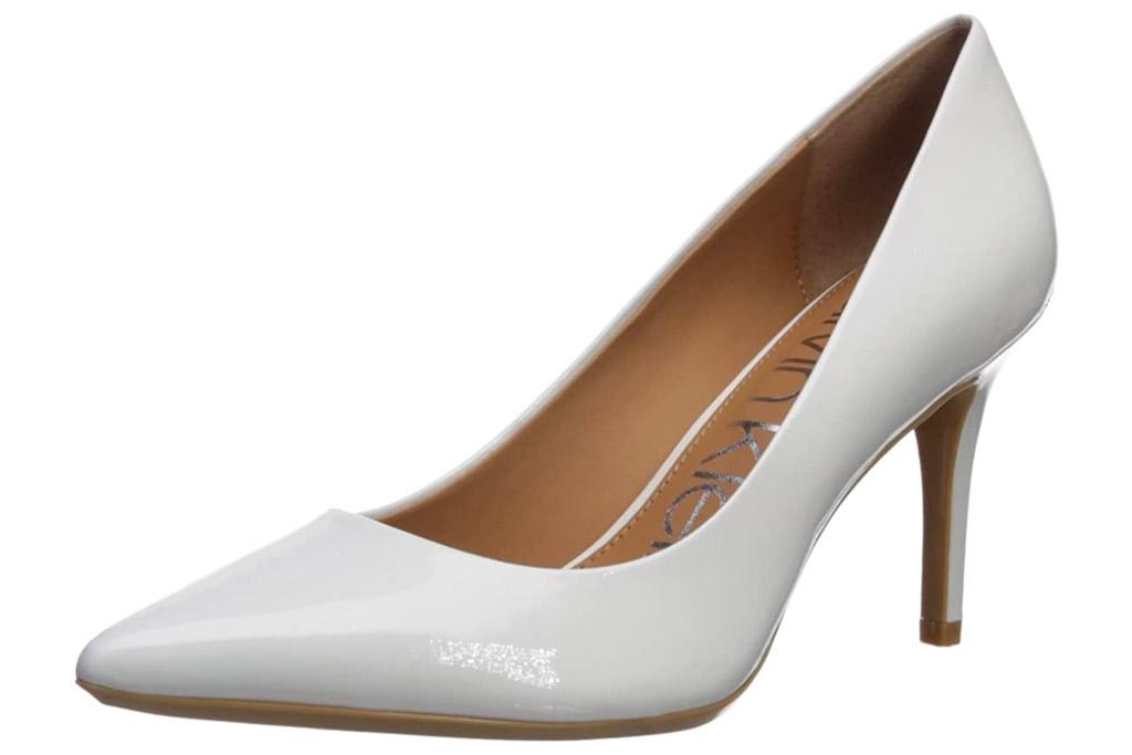 calvin klein, heels, white