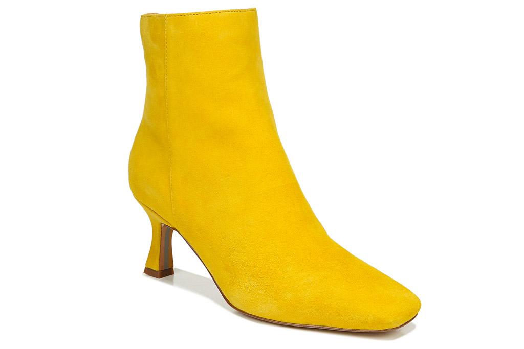 yellow boots, sam edelman