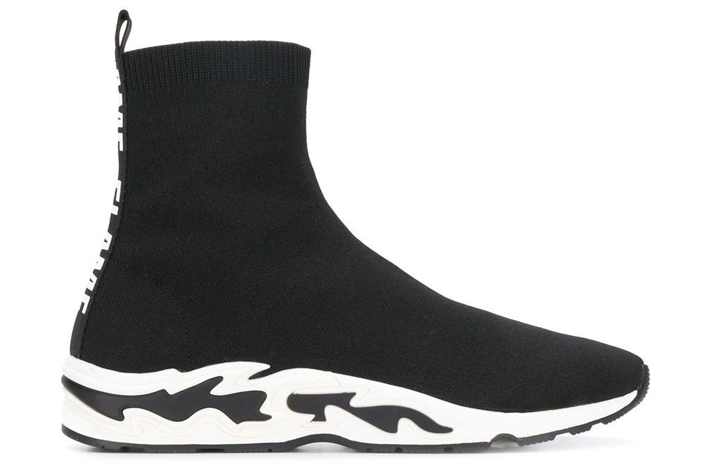 sock boots, booties, sneakers, sandro