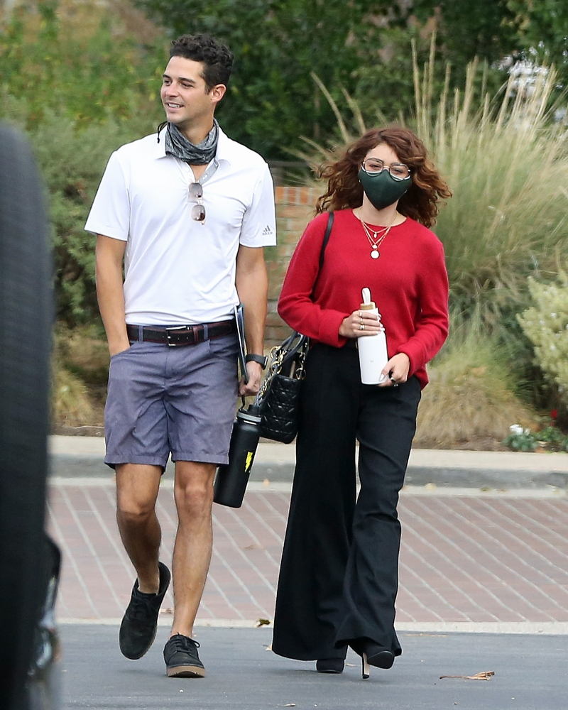sarah hyland, jeans, sweater, style, shoes, boots, wells adams, shorts, los angeles, wedding, venue