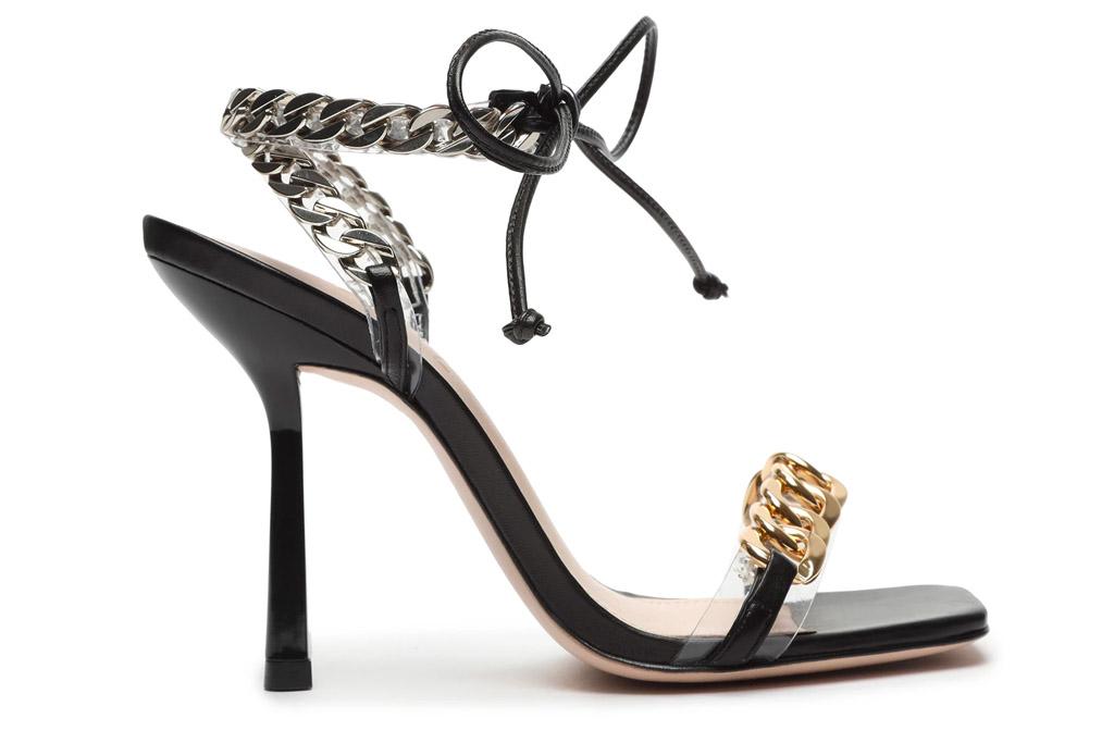 gold heels, black, schutz