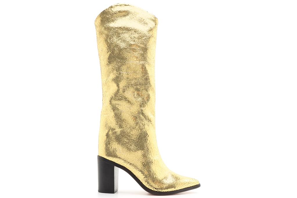 gold boots, schutz