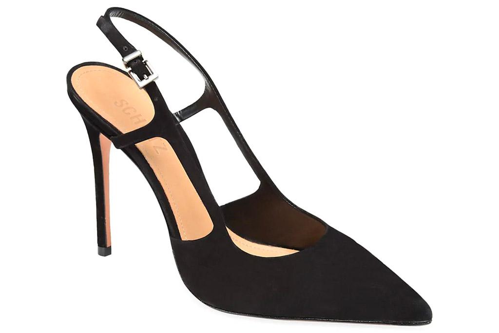 black heels, slingback, pumps, pointed toe, schutz