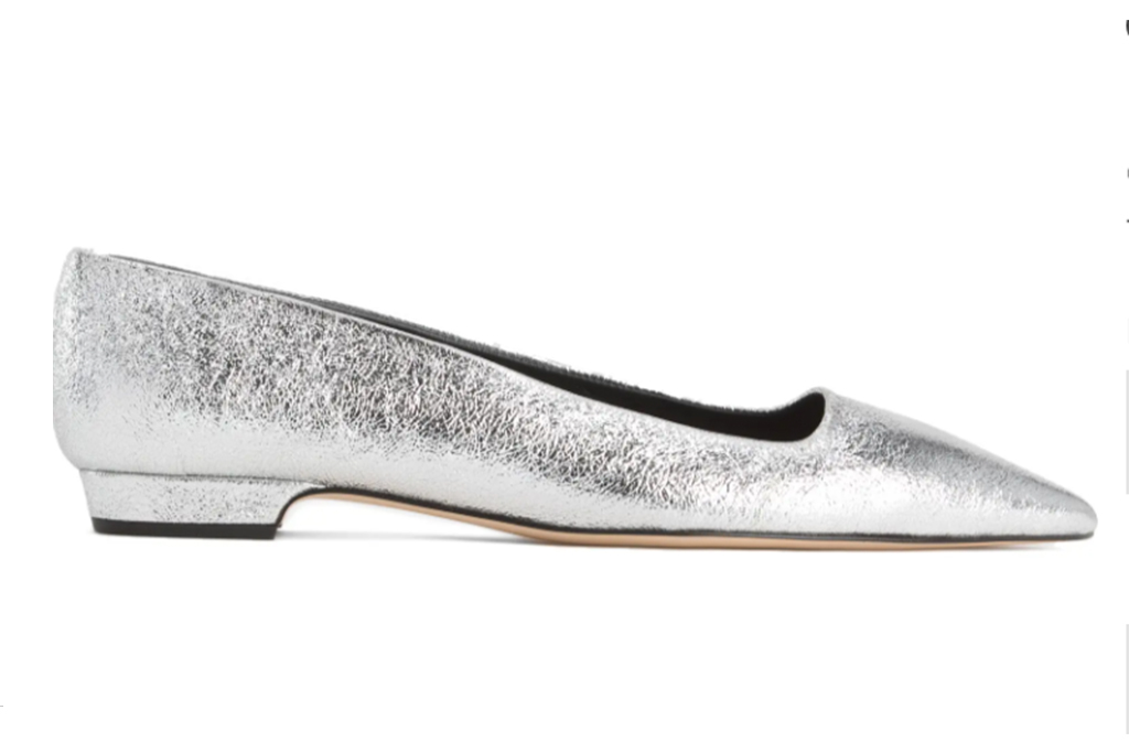 silver ballet flat, nordstrom shoes, flats