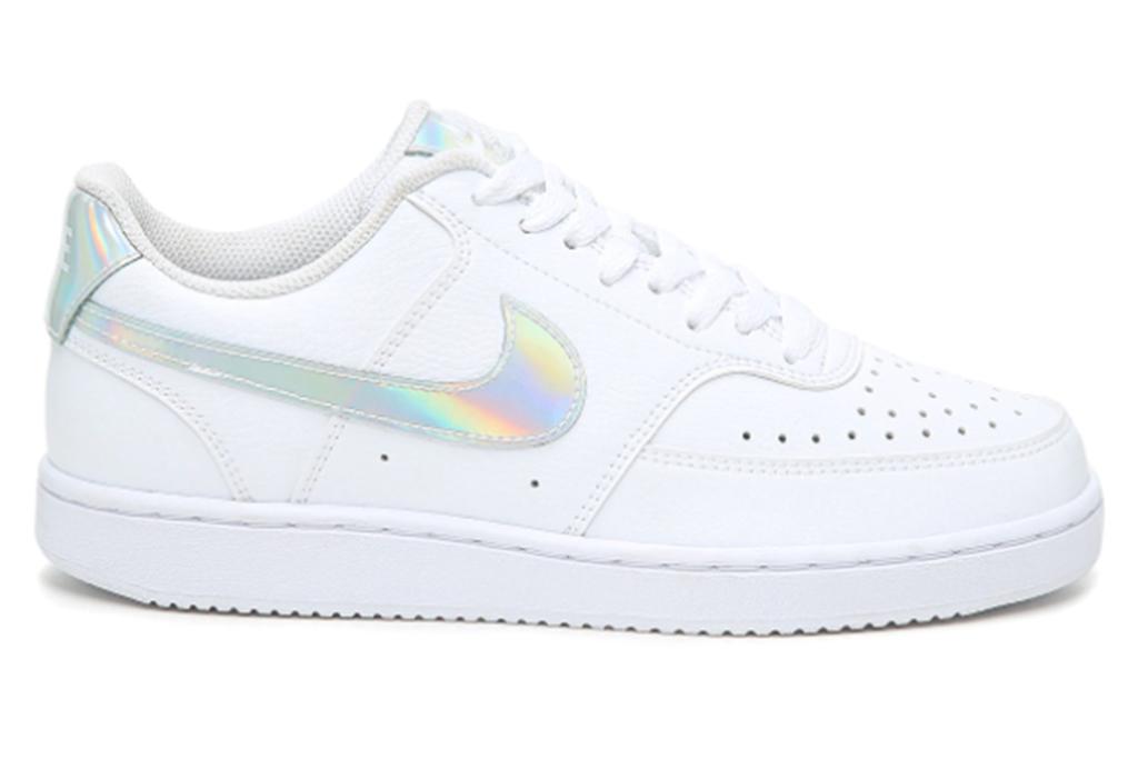 nike sneaker, iridescent sneaker, white sneaker