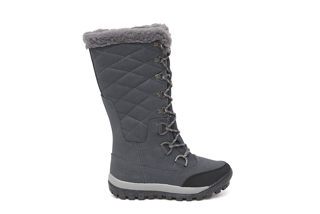 bearpaw snow boot, grey snow boot tall snow boot