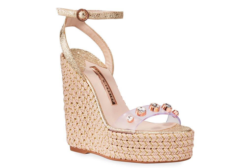 clear heel, wedges, espadrille, sophia webster