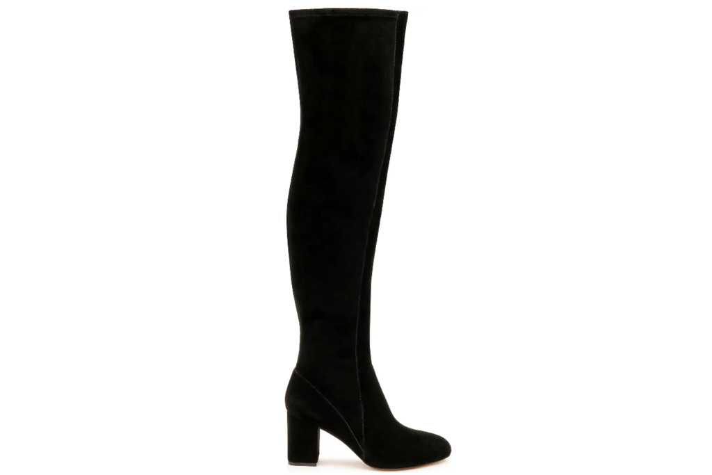 black boots, over the knee, thigh high, splendid