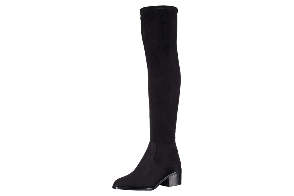black boots, suede, over the knee, thigh high, steve madden