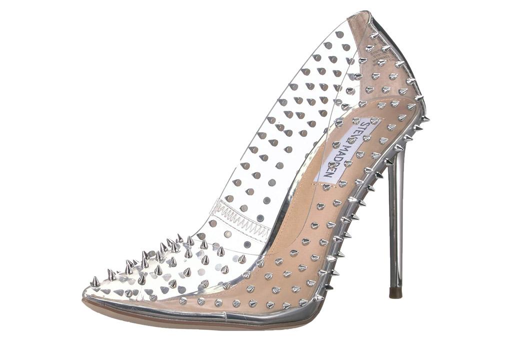 clear heels, pumps, steve madden