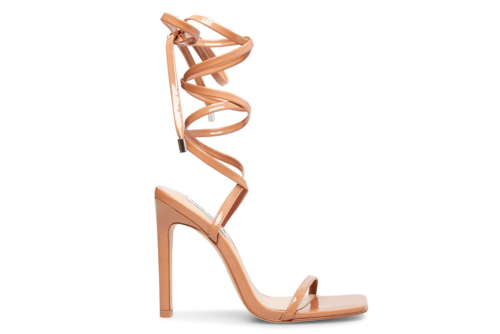 heels, nude, ankle wrap, steve madden