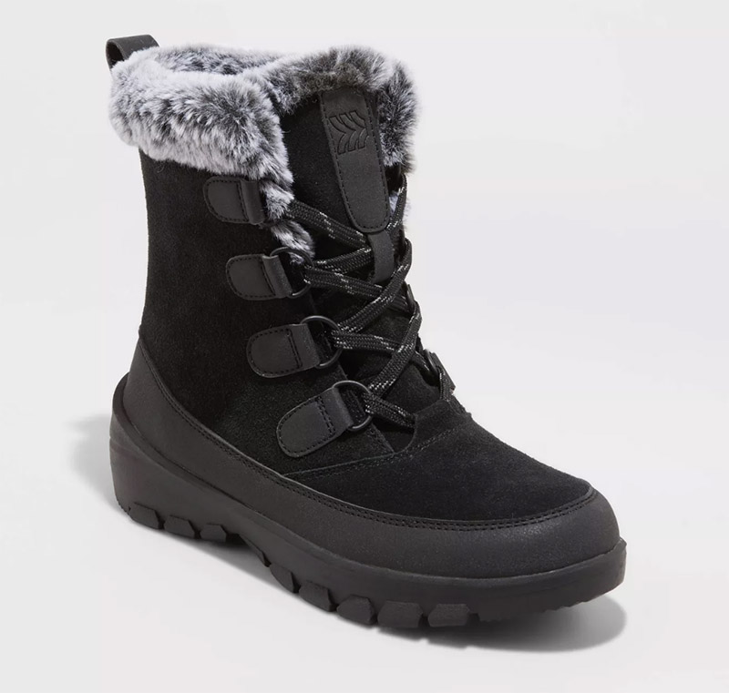 black boots, snow boots, target