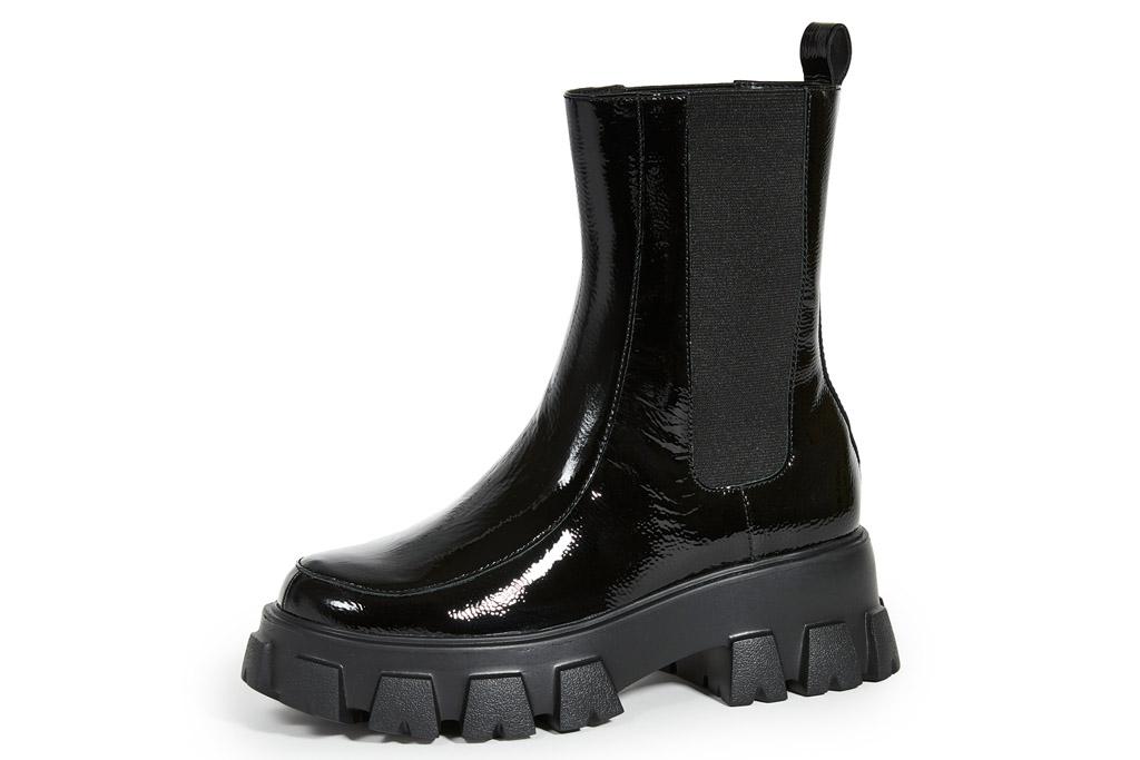 boots, black boots, lug sole, villa rouge