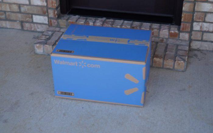 Walmart delivery box