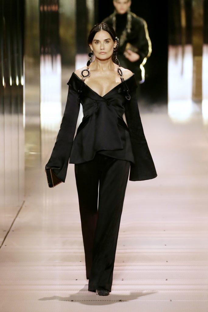 demi moore, fendi, spring 2021, kim jones, couture, paris fashion week