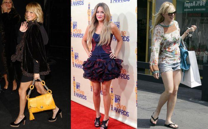 2000s shoe trends, 2000s style, 2000s fashion, nicole richie, lindsay lohan, lauren conrad