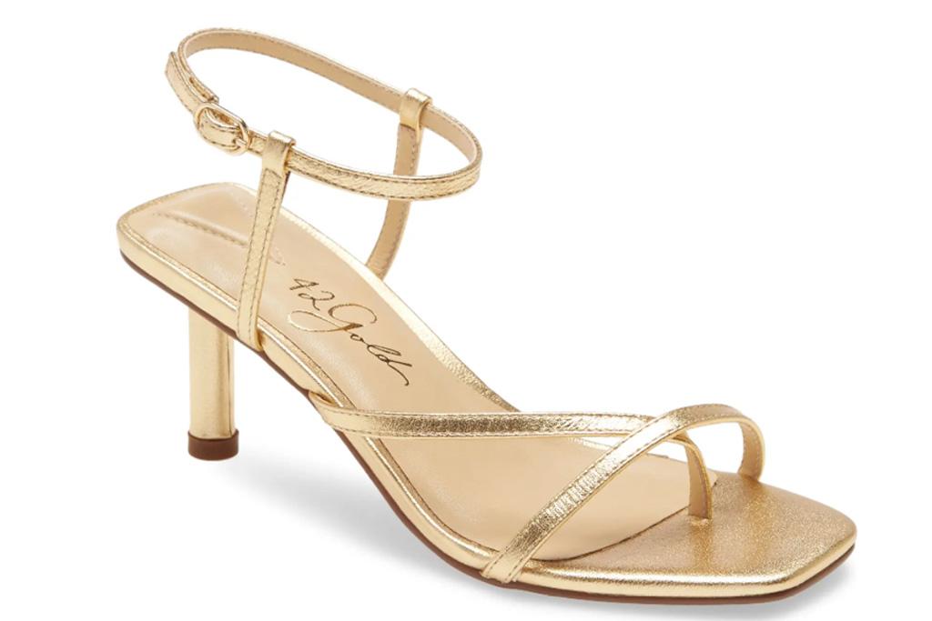 sandals, gold, 42gold