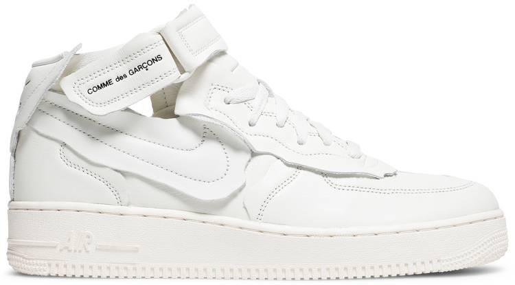 Comme des Garçons x Nike Air Force 1 Mid 'Triple White' sneakers, jlo sneakers, drake sneakers
