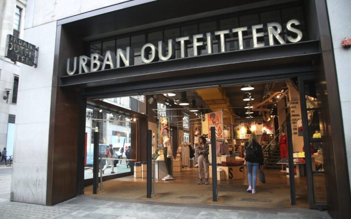 Oxford Street Stores Stock. A branch of Urban Outfitters on Oxford Street, central London. URN:36901078 (Press Association via AP Images)