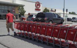 FILE - A Target employee returns