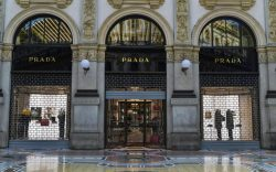 Prada store is shut down, at