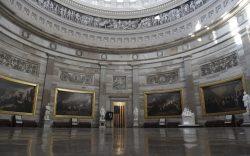 Rotunda inside of US Capitol where