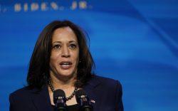 Vice President-elect Kamala Harris speaks during