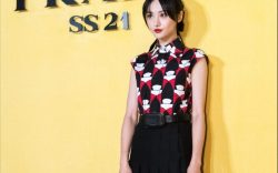 --File--Chinese actress Zheng Shuang attends Prada