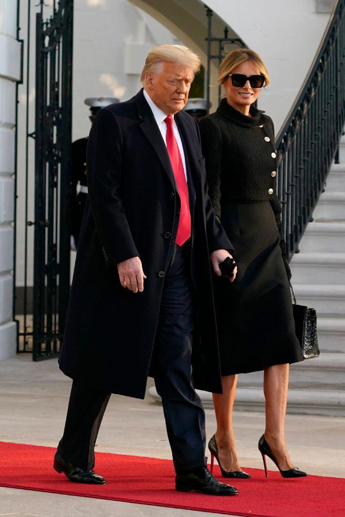 melania trump, donald trump, trump, trump leaving office, melania trump fashion, christian louboutin
