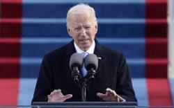 President Joe Biden speaks during the