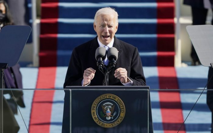 January 20, 2021 - Washington, DC, United States: President Joe Biden speaks during the 59th Presidential Inauguration at the U.S. Capitol in Washington, Wednesday, Jan. 20, 2021. Europa Press 01/20/2021 (Europa Press via AP)