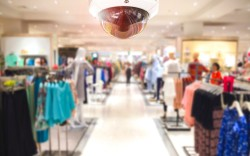 Security CCTV camera in an apparel